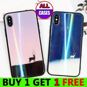 Accessories - NEW iPhone X/XS/7/8/Plus Glass Back Deer Case
